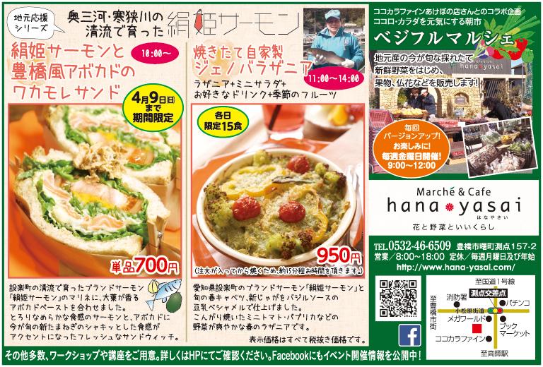【季節誌しずく】豊橋市 hanayasai